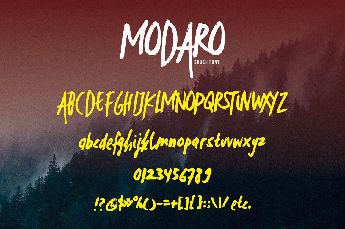 Modaro Bold Handmade Brush Font example image 4