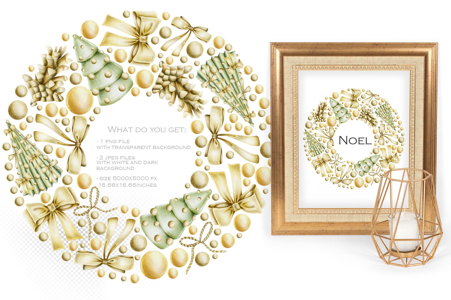 Perfect Christmas. Wreath #3 example image 2