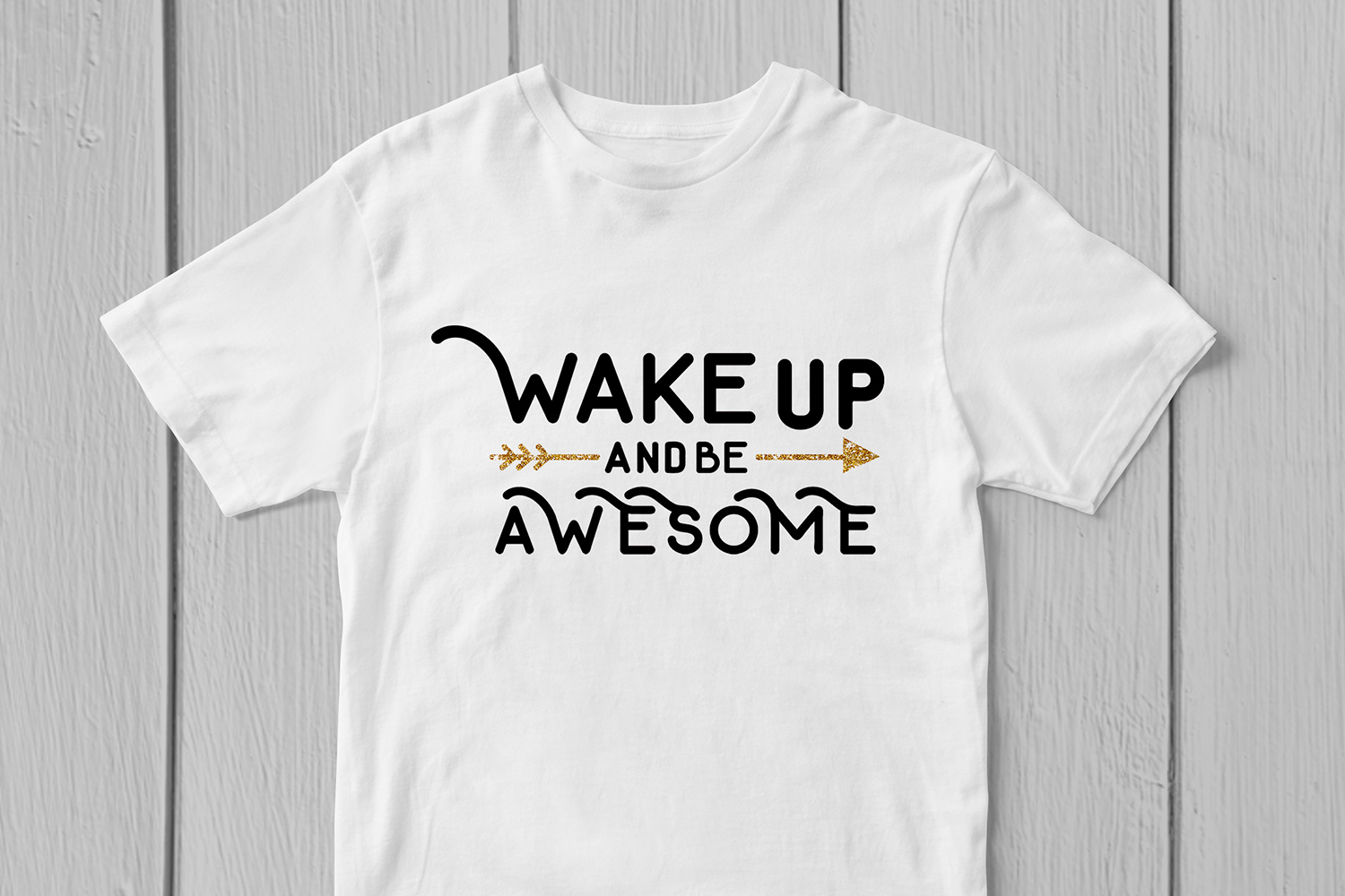 Wake Up And Be Awesome - Quote SVG EPS DXF PNG Cutting File example image 3