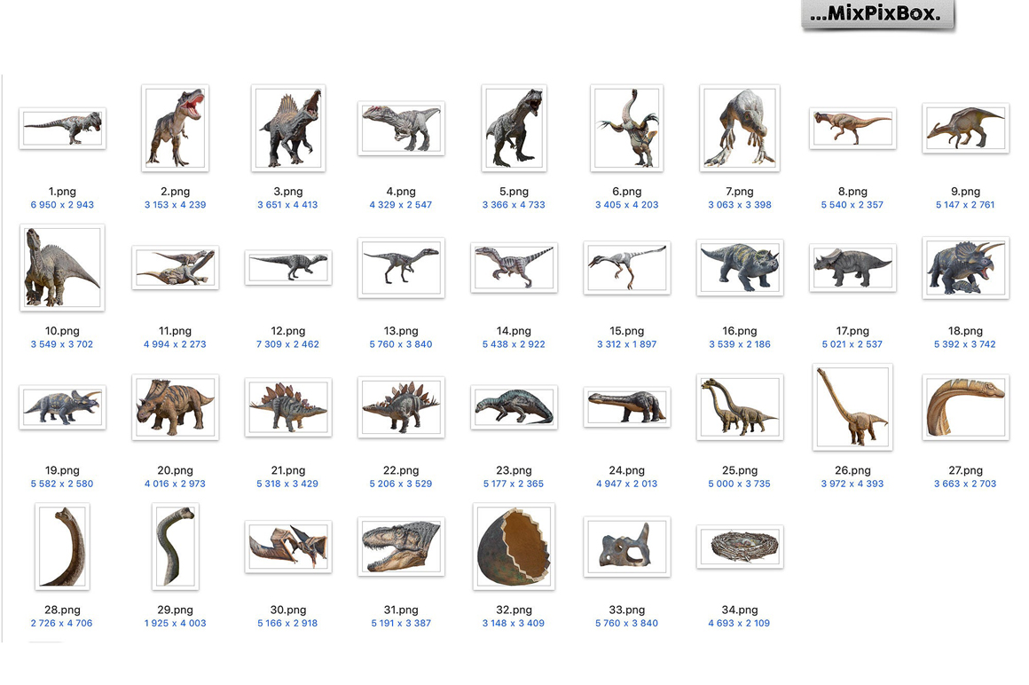 Dinosaurs Photo Overlays Pack example image 8