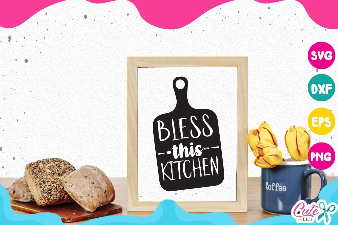 Kitchen bundle, my kitchen my rules svg cut files example image 17