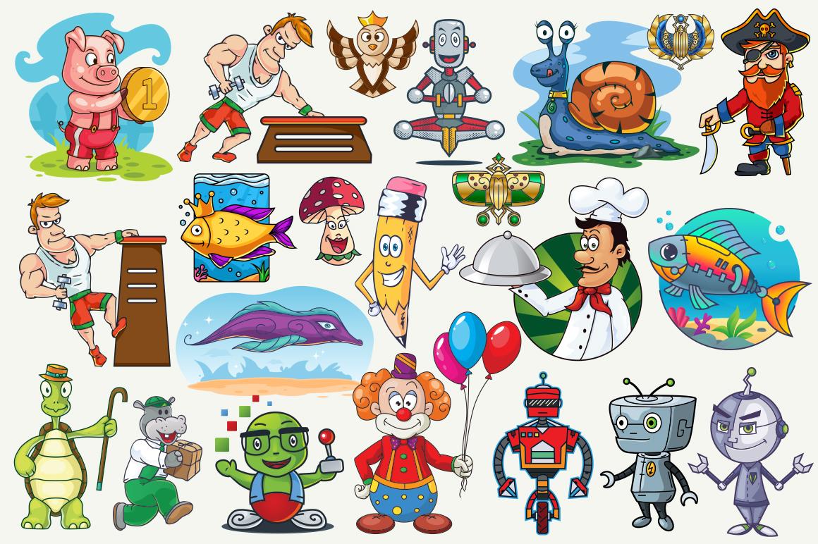 Cartoon Characters & Items Bundle example image 3