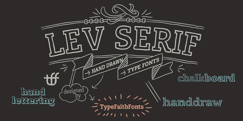 Lev Serif example image 2