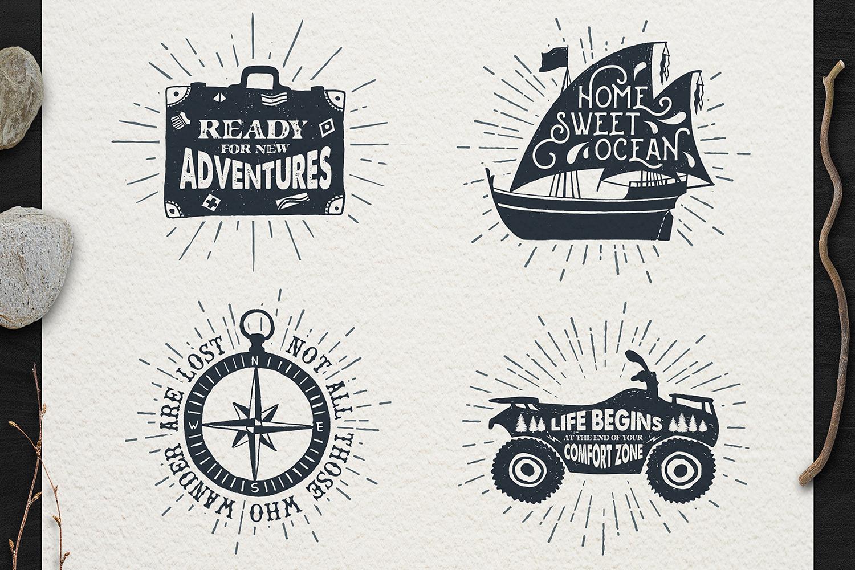 Adventure Vintage Badges (part 1) example image 4