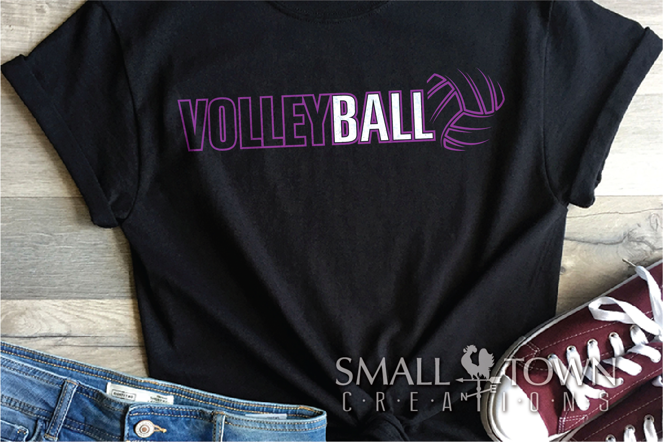 Volleyball, Volleyball ball, Sport logo, PRINT, CUT & DESIGN example image 1