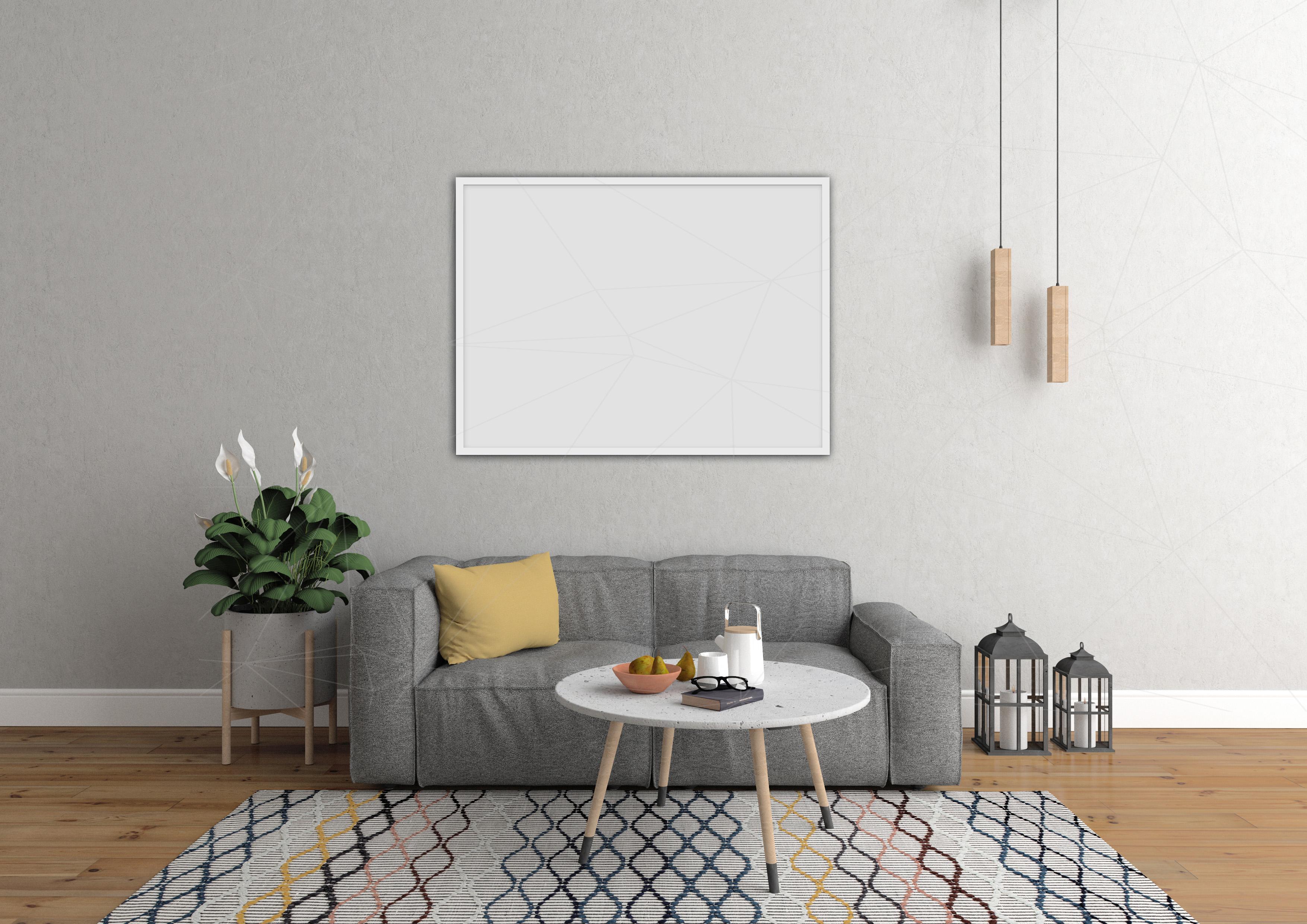 Interior mockup bundle - blank wall mock up example image 6
