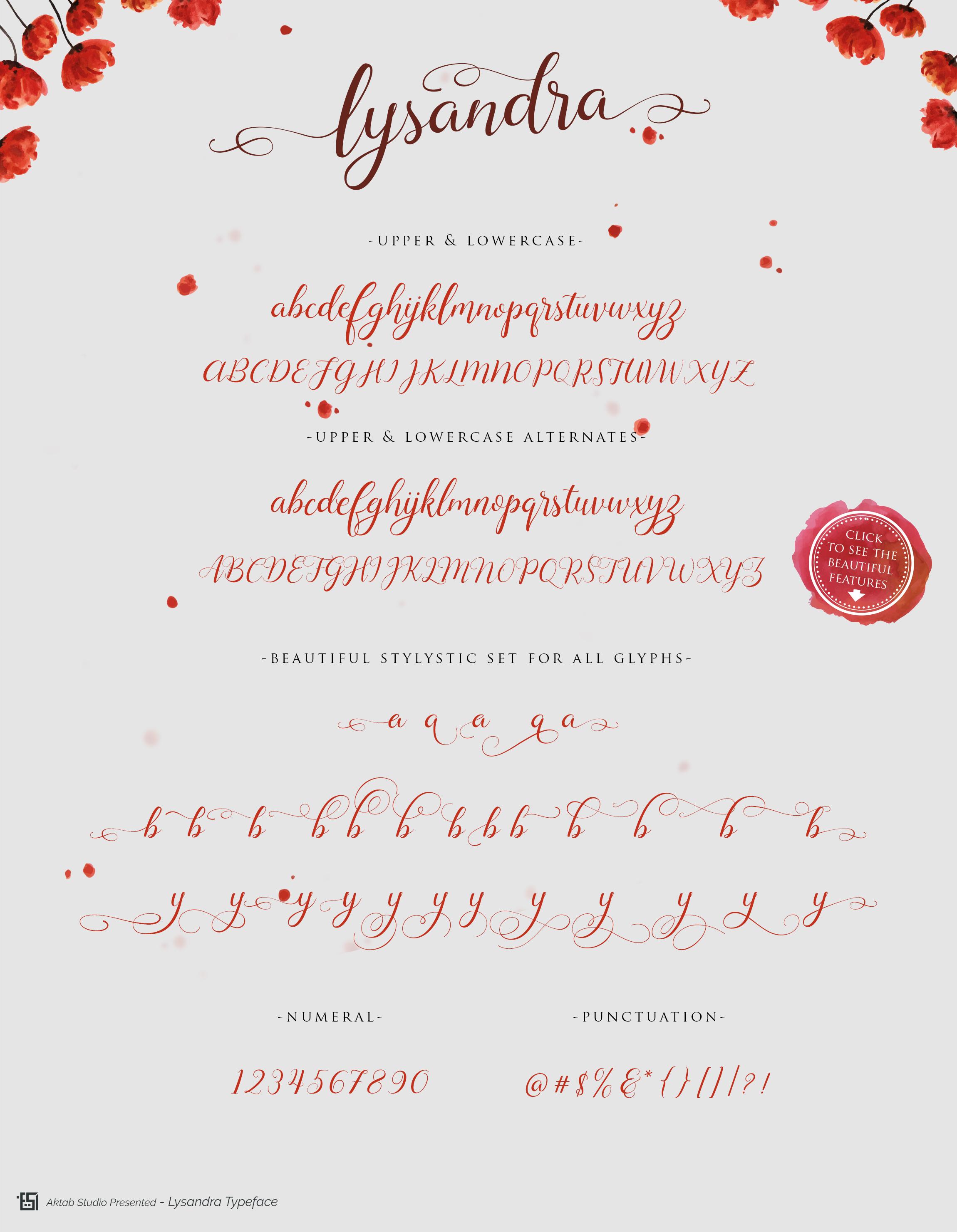 Lysandra Script Typeface example image 4