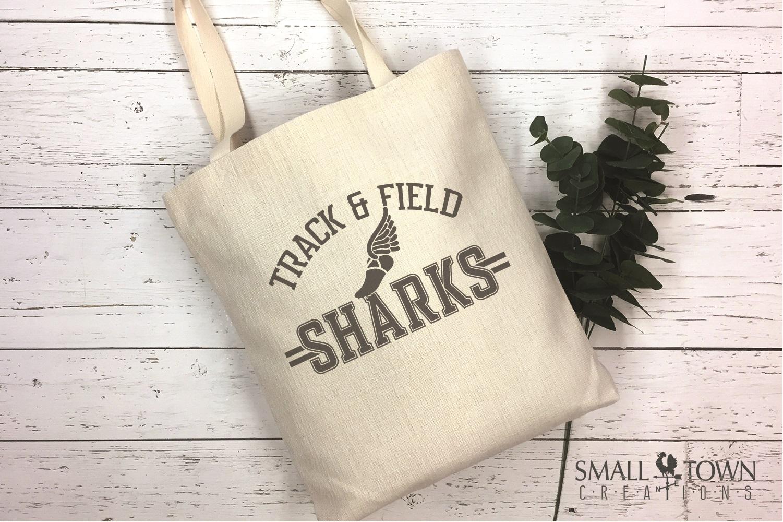 Sharks Track and Field, Shark mascot, PRINT, CUT, DESIGN example image 4