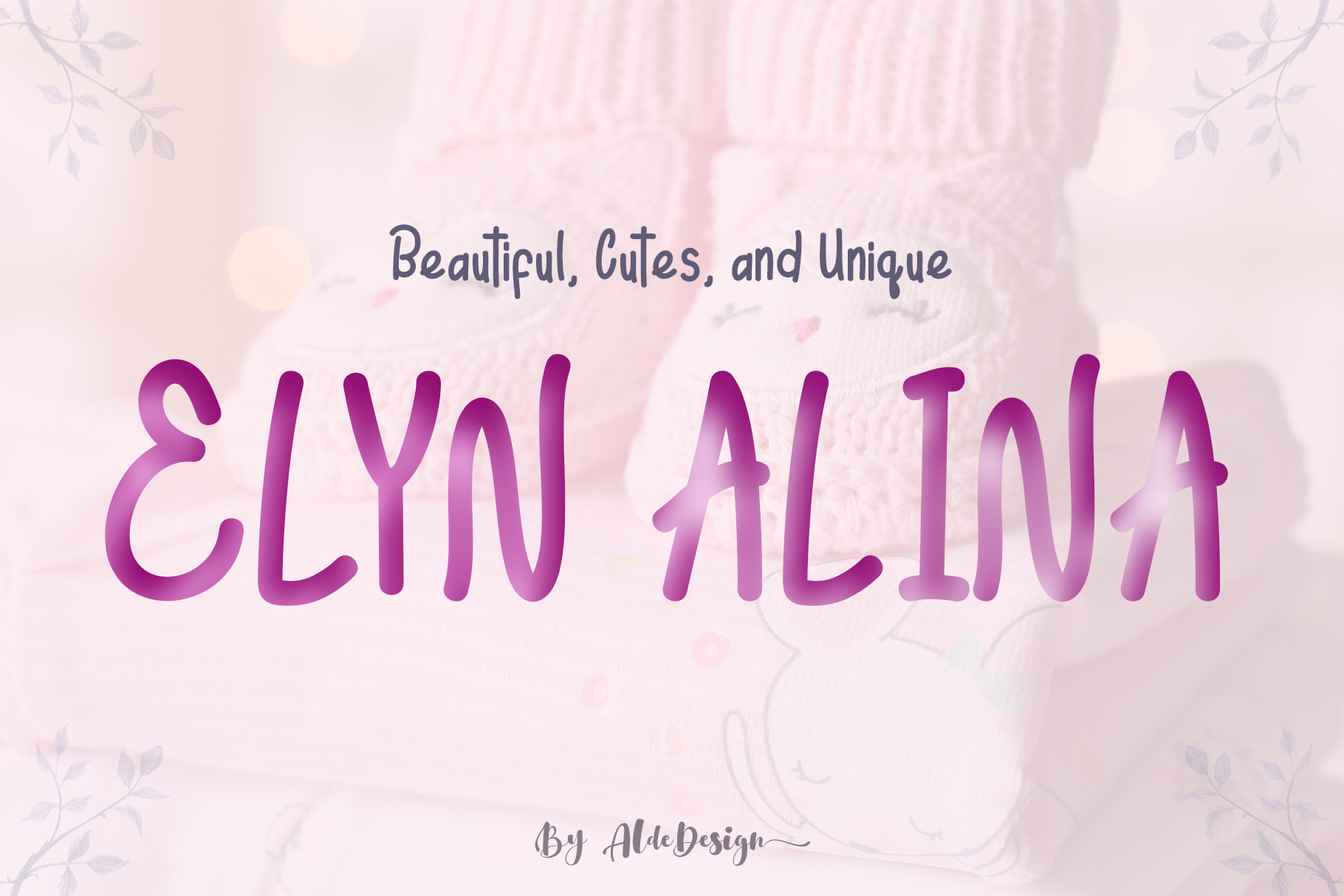Elyn Alina - Handmade Font example image 1