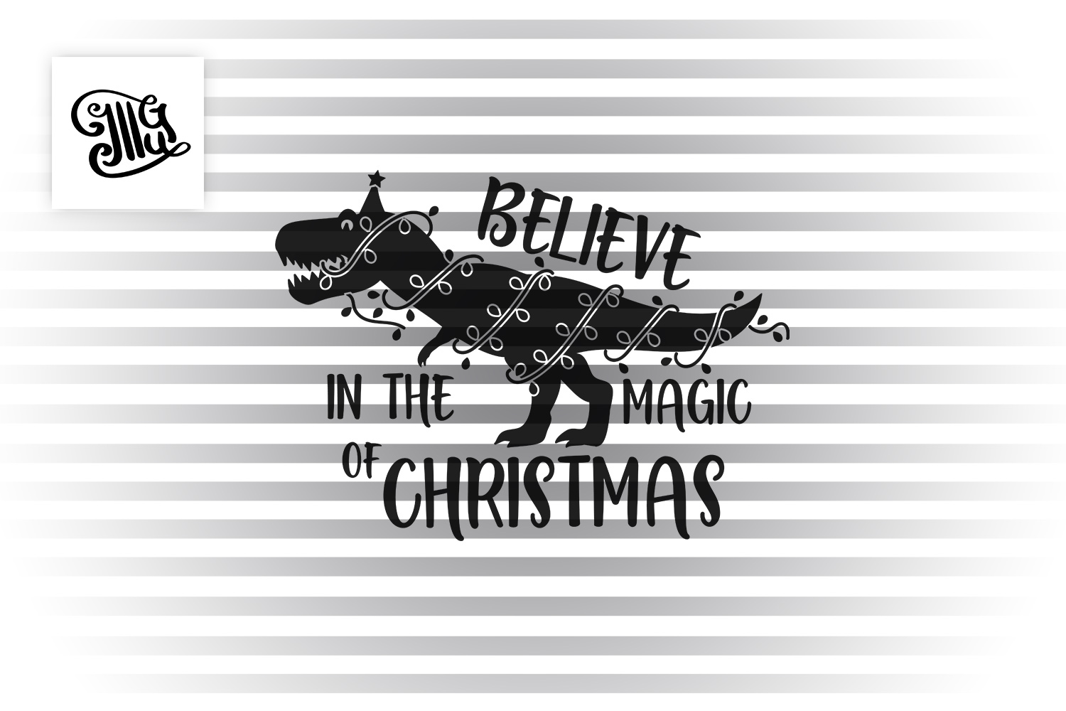 Believe in the magic of Christmas - dinosaur for boys example image 2