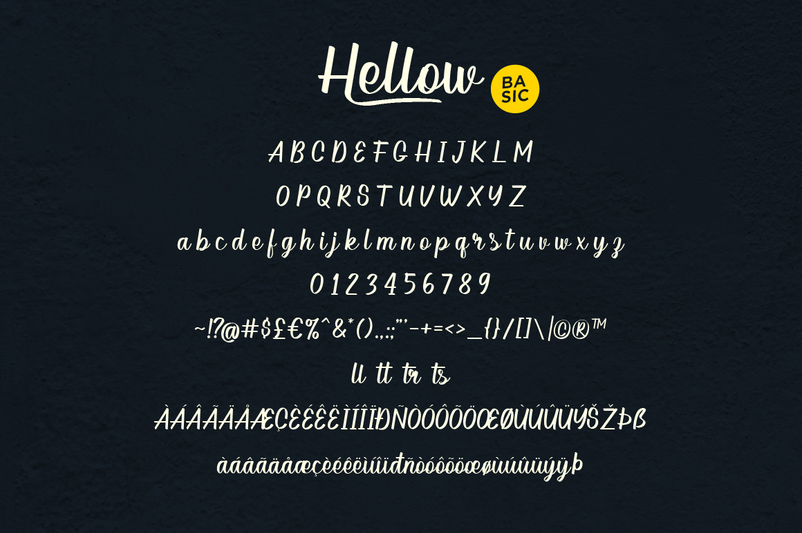 Hellow - Calligraphy Typeface example image 5