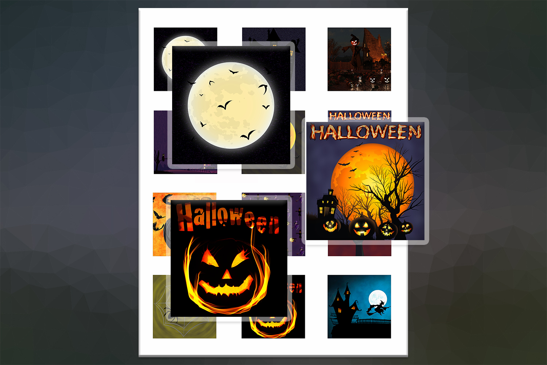 Halloween, Halloween Digital Collage,2x2,1.5x1.5,1x1 inch example image 1