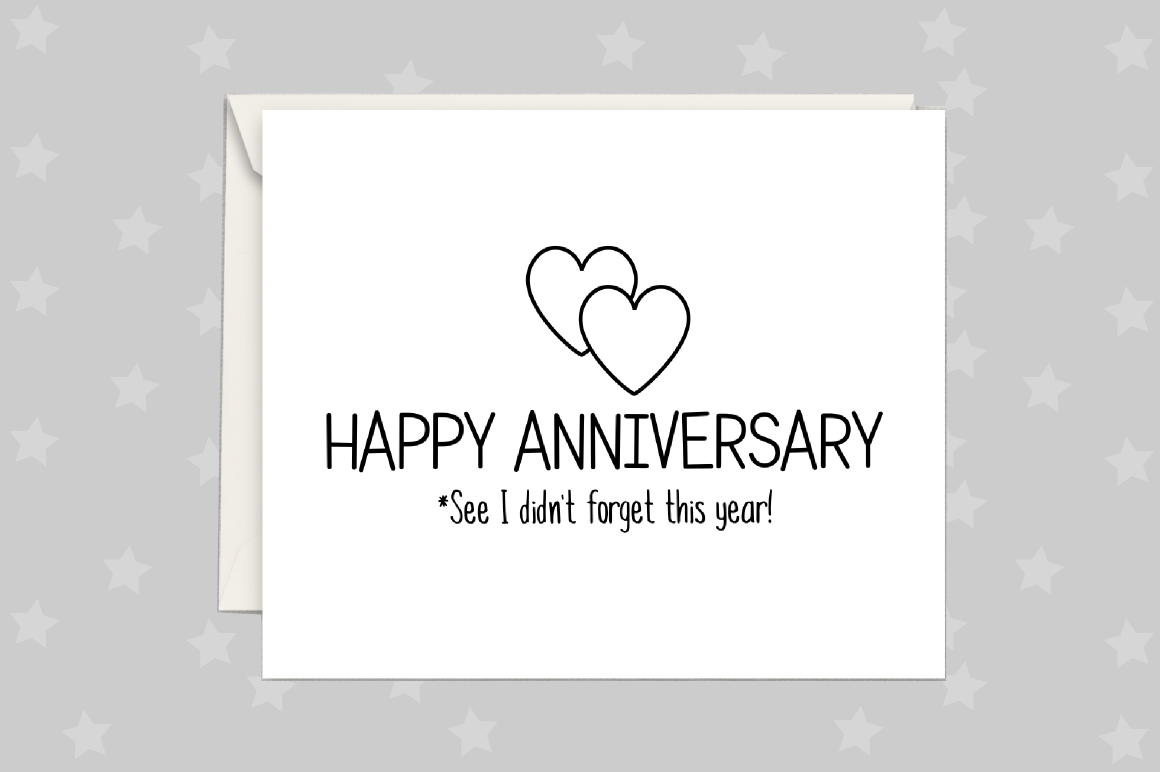 Anniversary Card, Greeting Card Printable example image 1