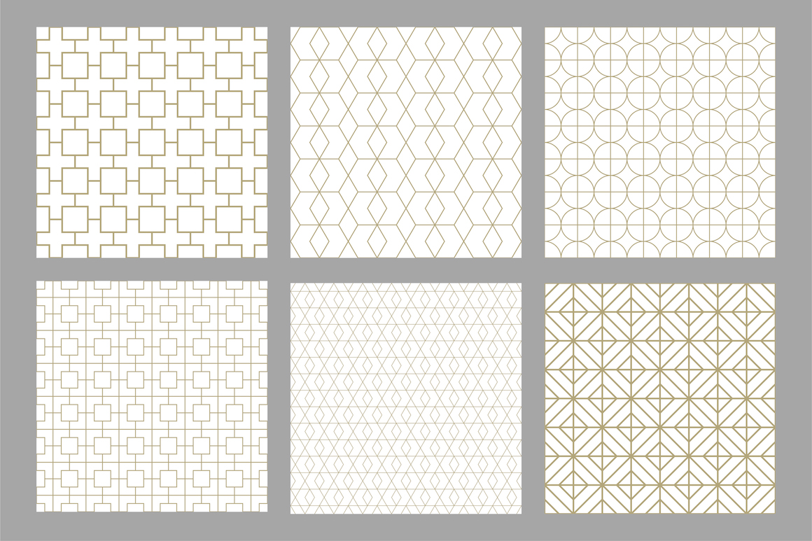 Set of ornamental seamless patterns example image 7