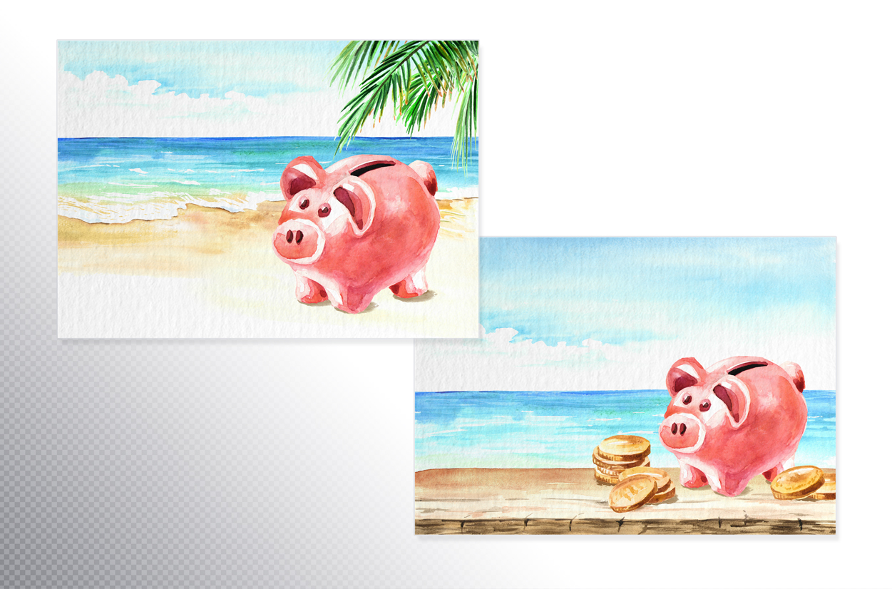 Money. Watercolor collection example image 7