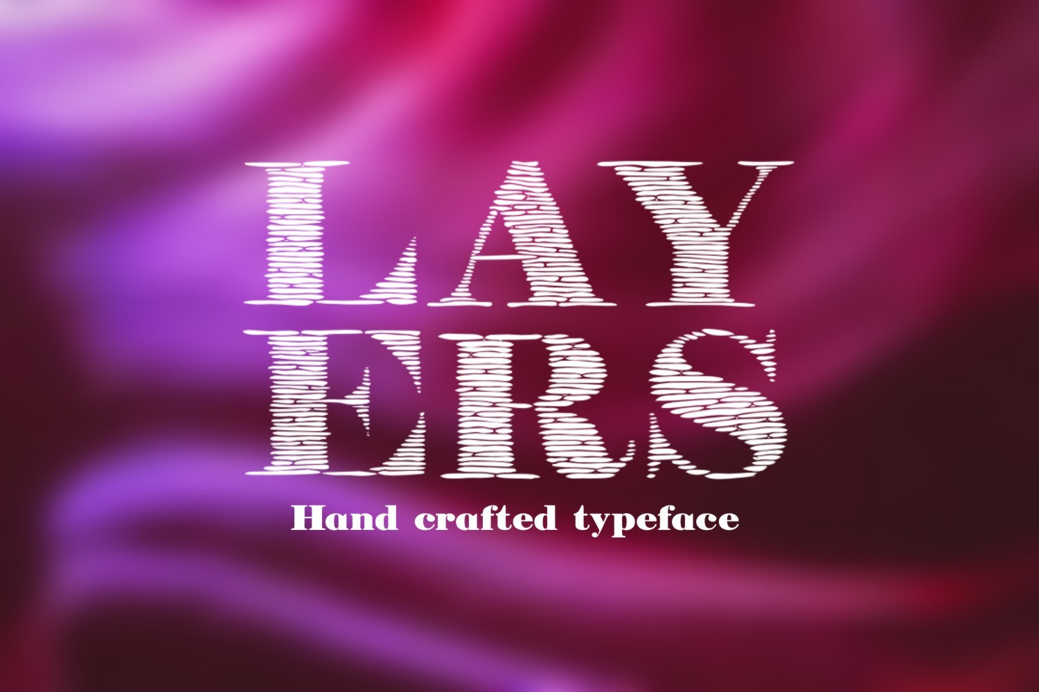Layers font example image 1