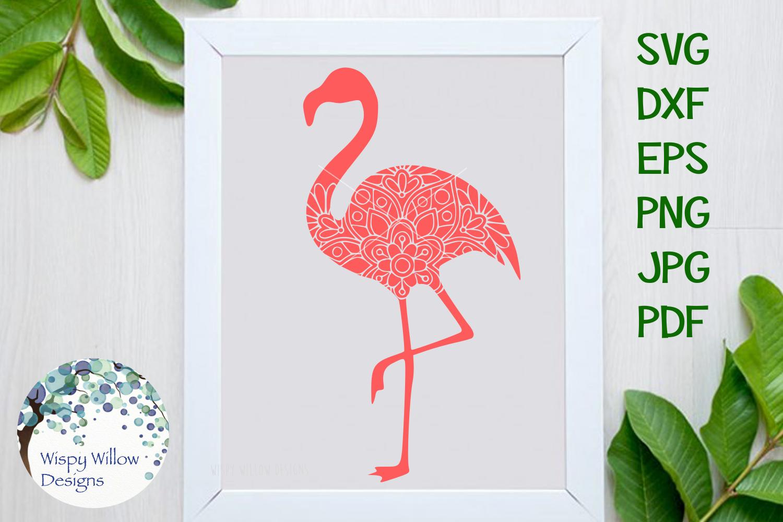 Flamingo Mandala, Animal Mandala SVG Cut File example image 1