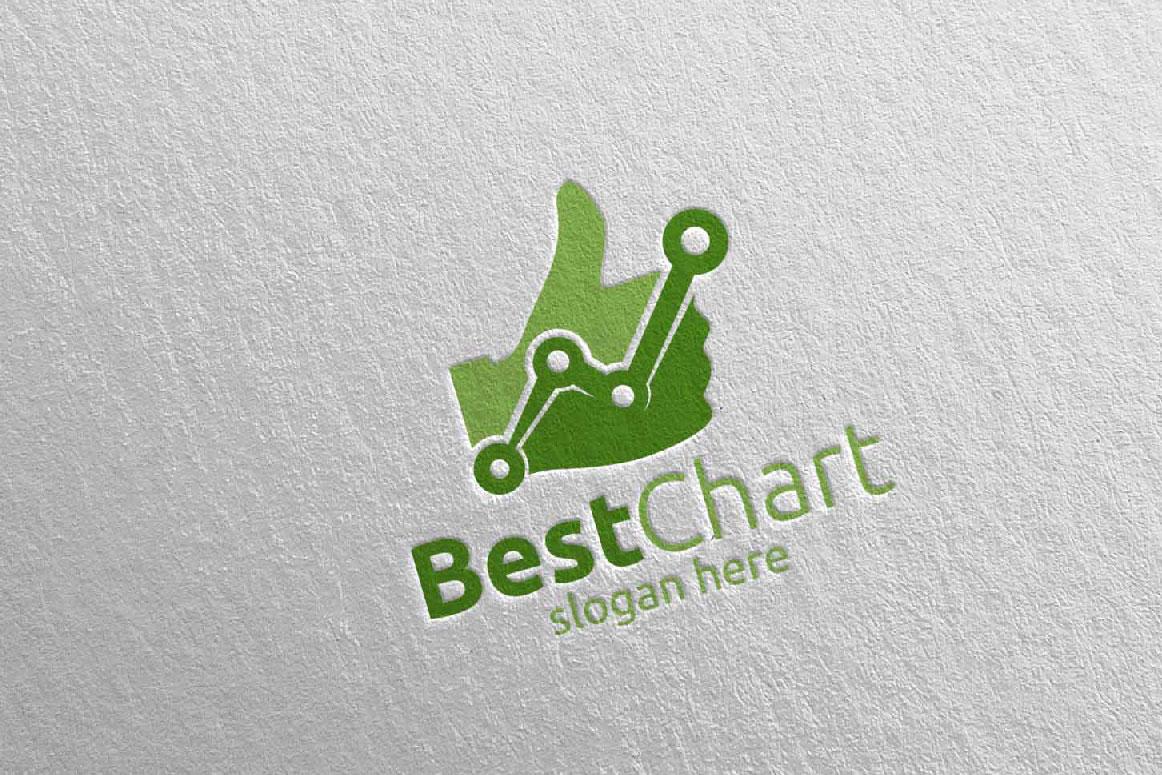 Best Chart Marketing Financial Advisor Logo Design 17 example image 3