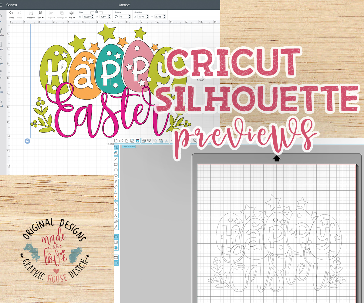 Happy Easter Cut File SVG, DXF, PNG example image 2