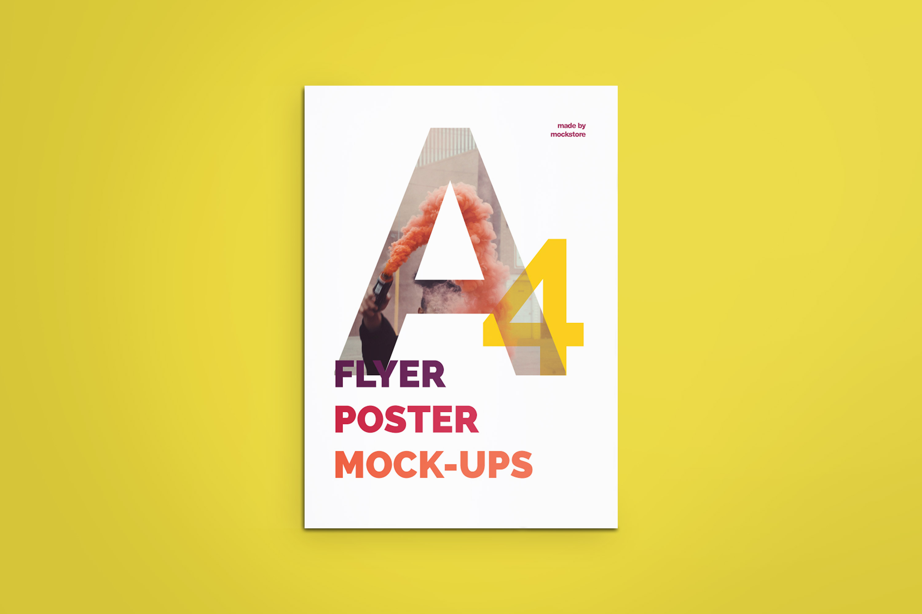 A4 Flyer / Poster Mockups example image 11