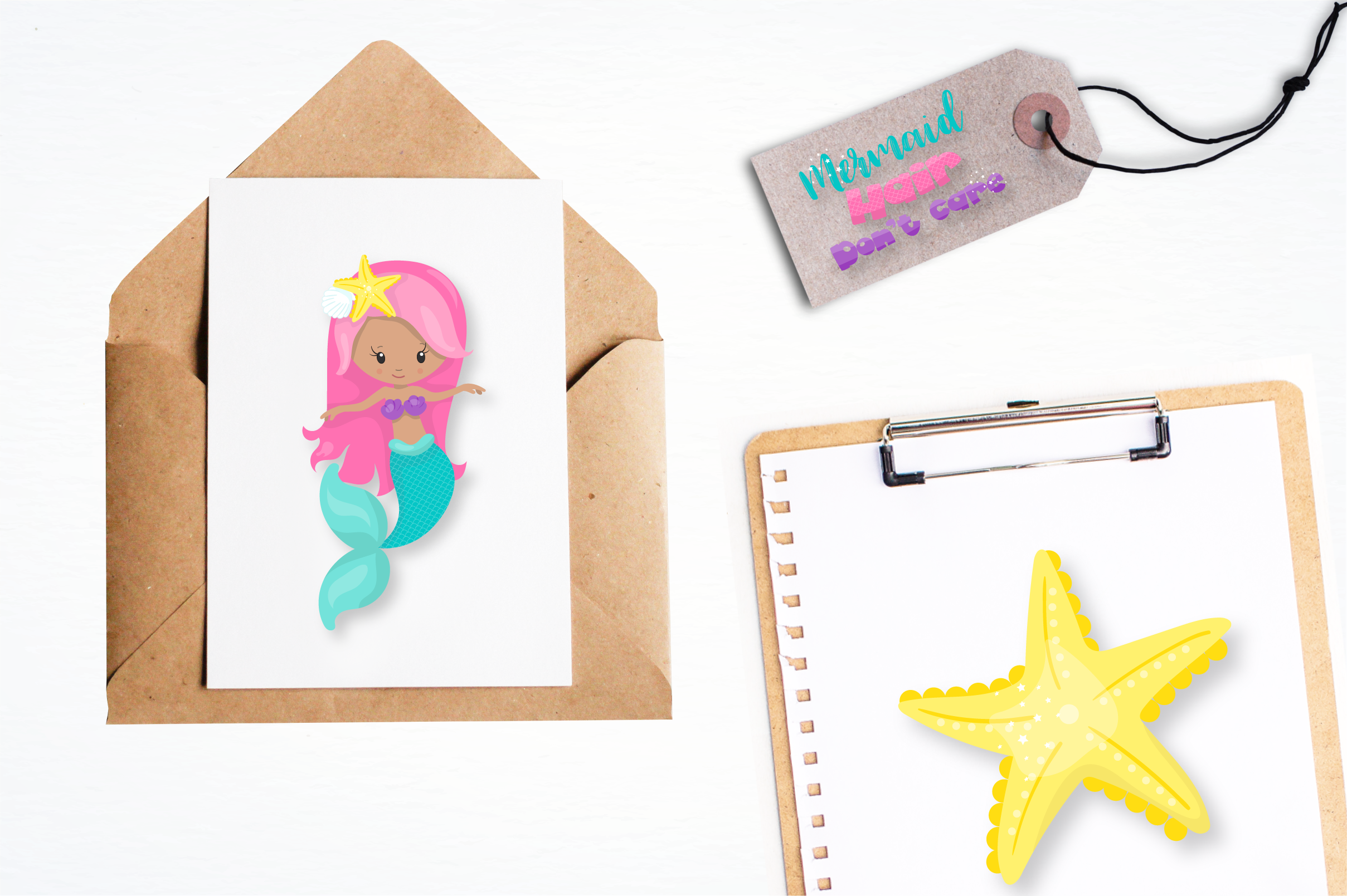 mermaid squad graphics and illustrations example image 5