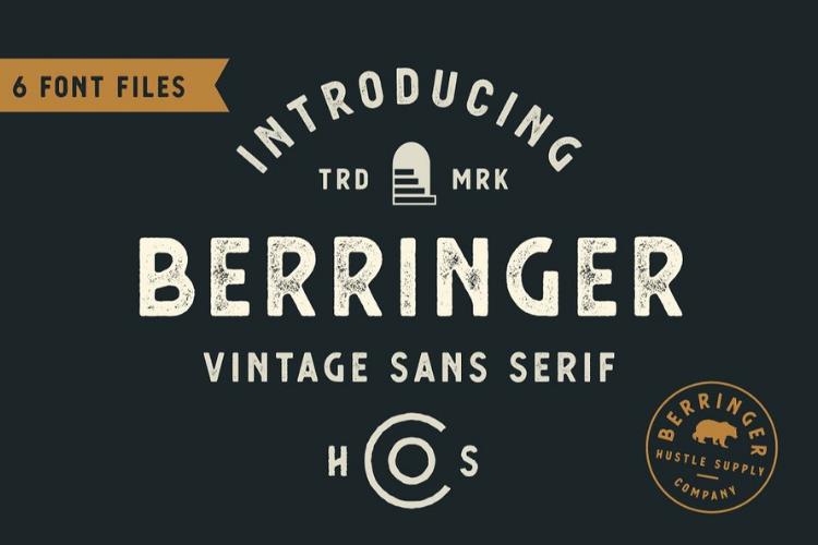 Berringer - Vintage Type Family example image 1