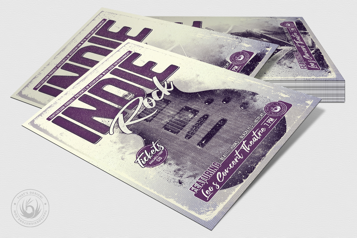 Indie Rock Flyer Template V3 example image 4