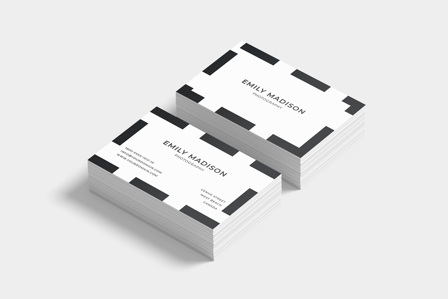 Clean Minimal Business Card Template example image 8