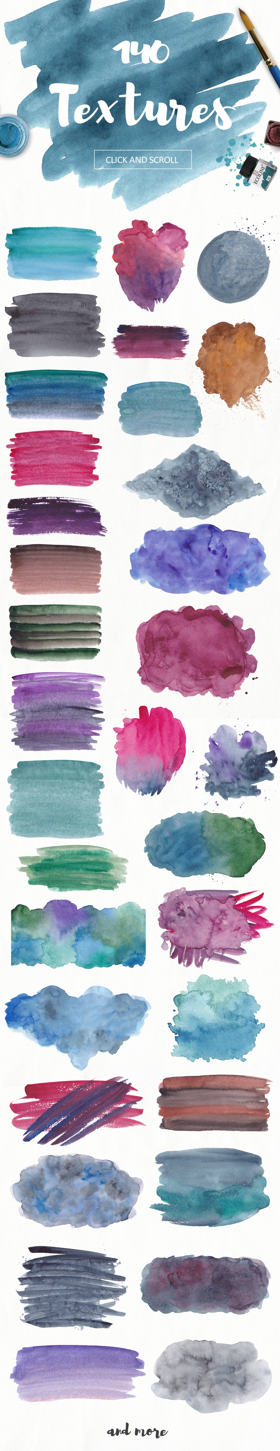 200 watercolor textures and backgrounds. Superbundle! example image 6
