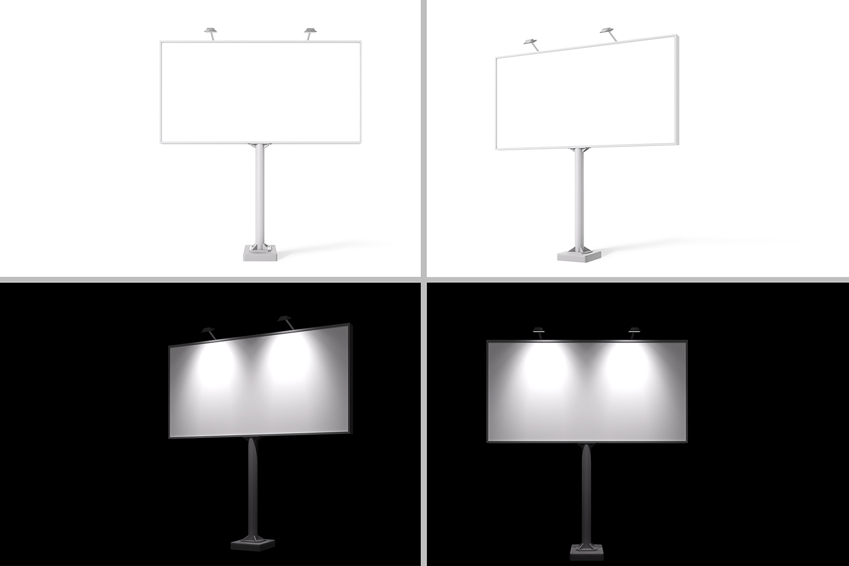 Billboard Mock-Ups. Day & night view example image 6