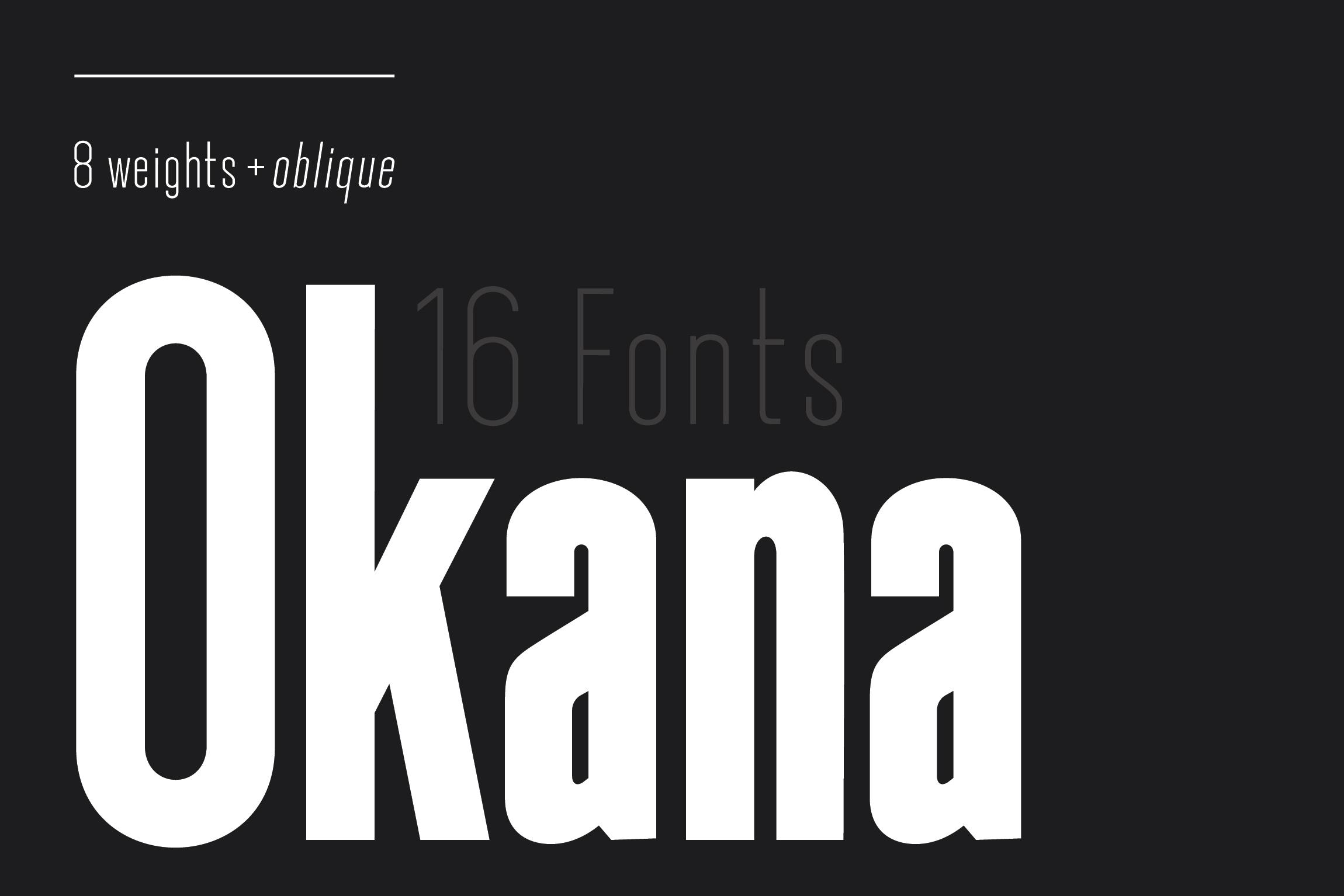 Okana - Sans Serif Font example image 1