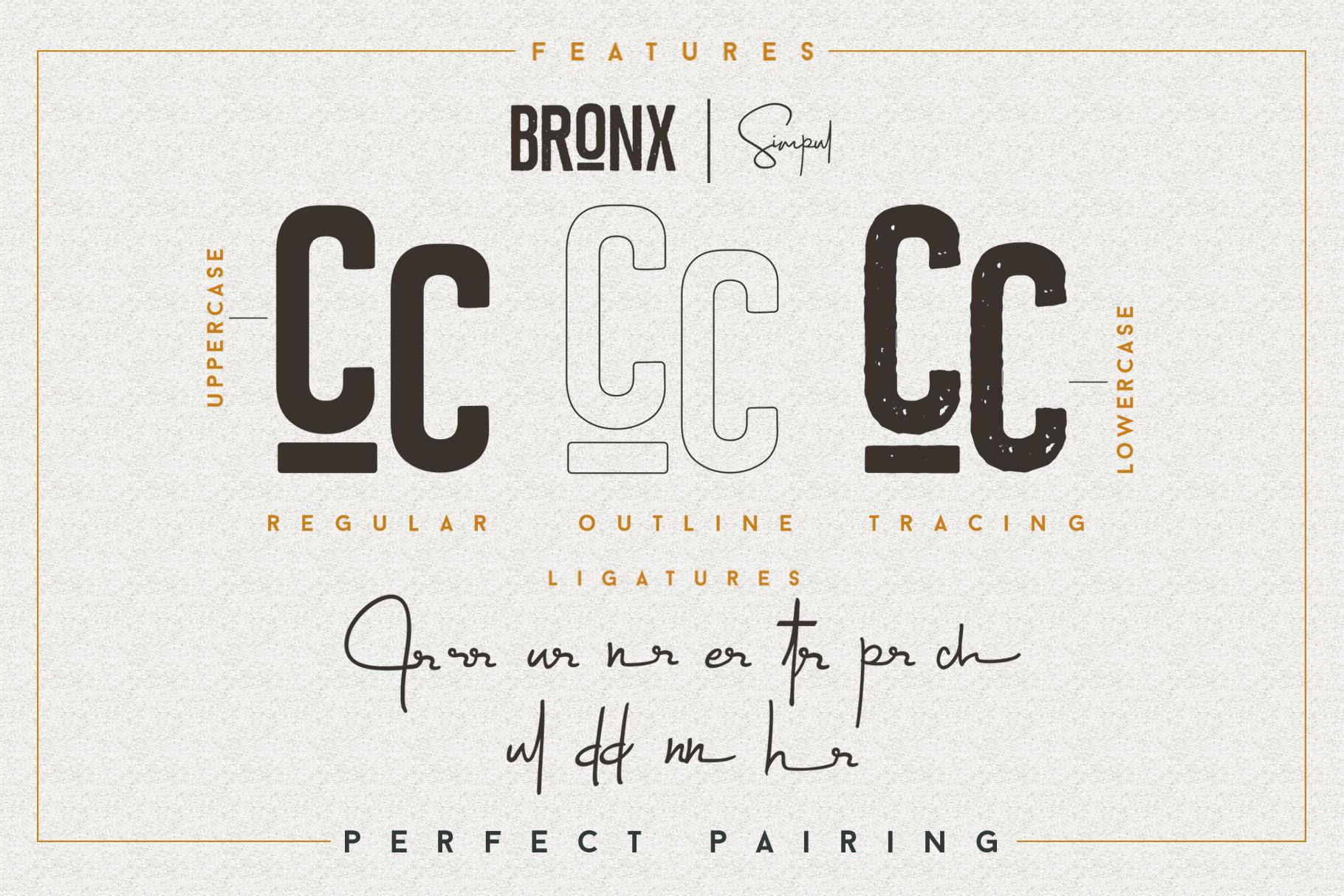 Bronx Simpul Sans-Script Font Duo example image 10