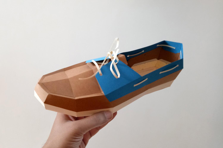 DIY Boat Shoe - 3d papercrafts example image 5