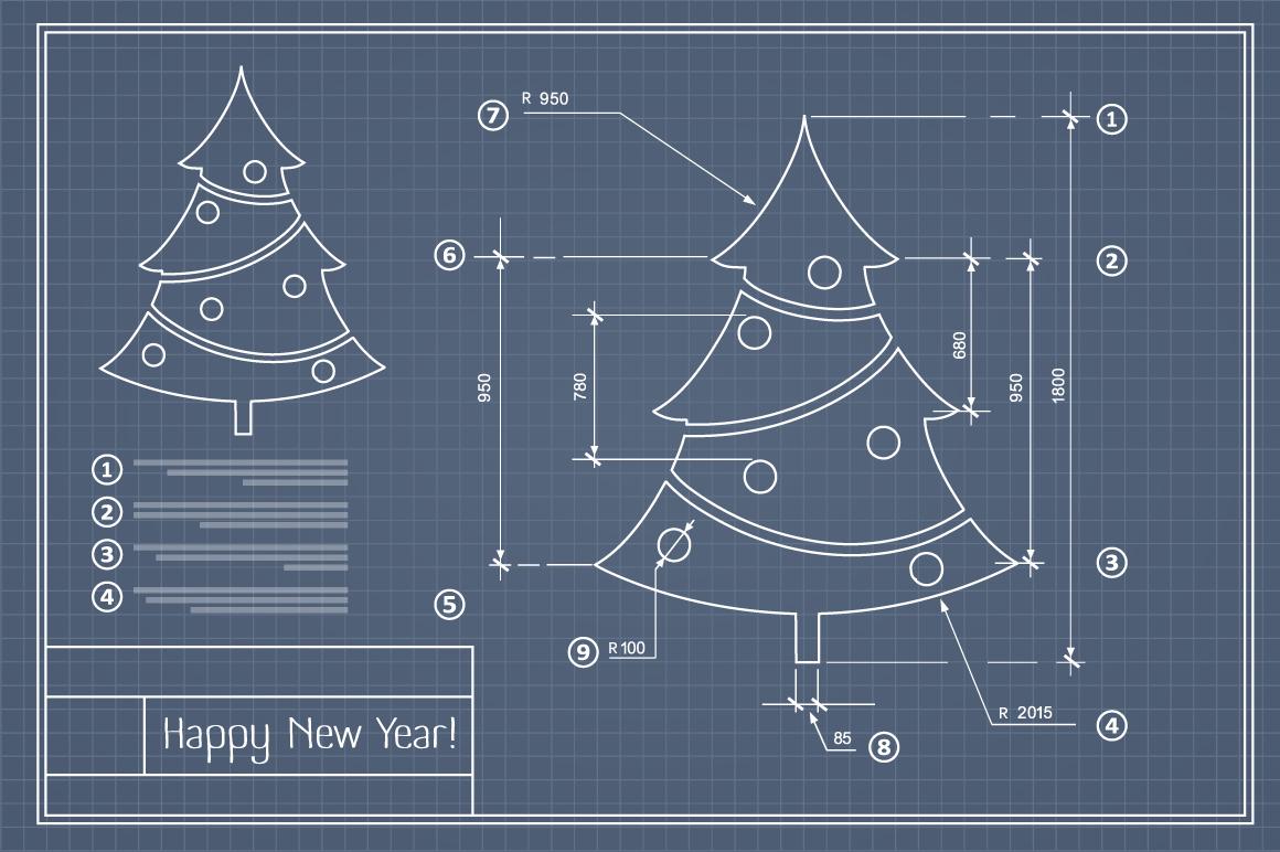 Christmas vector card scheme example image 4