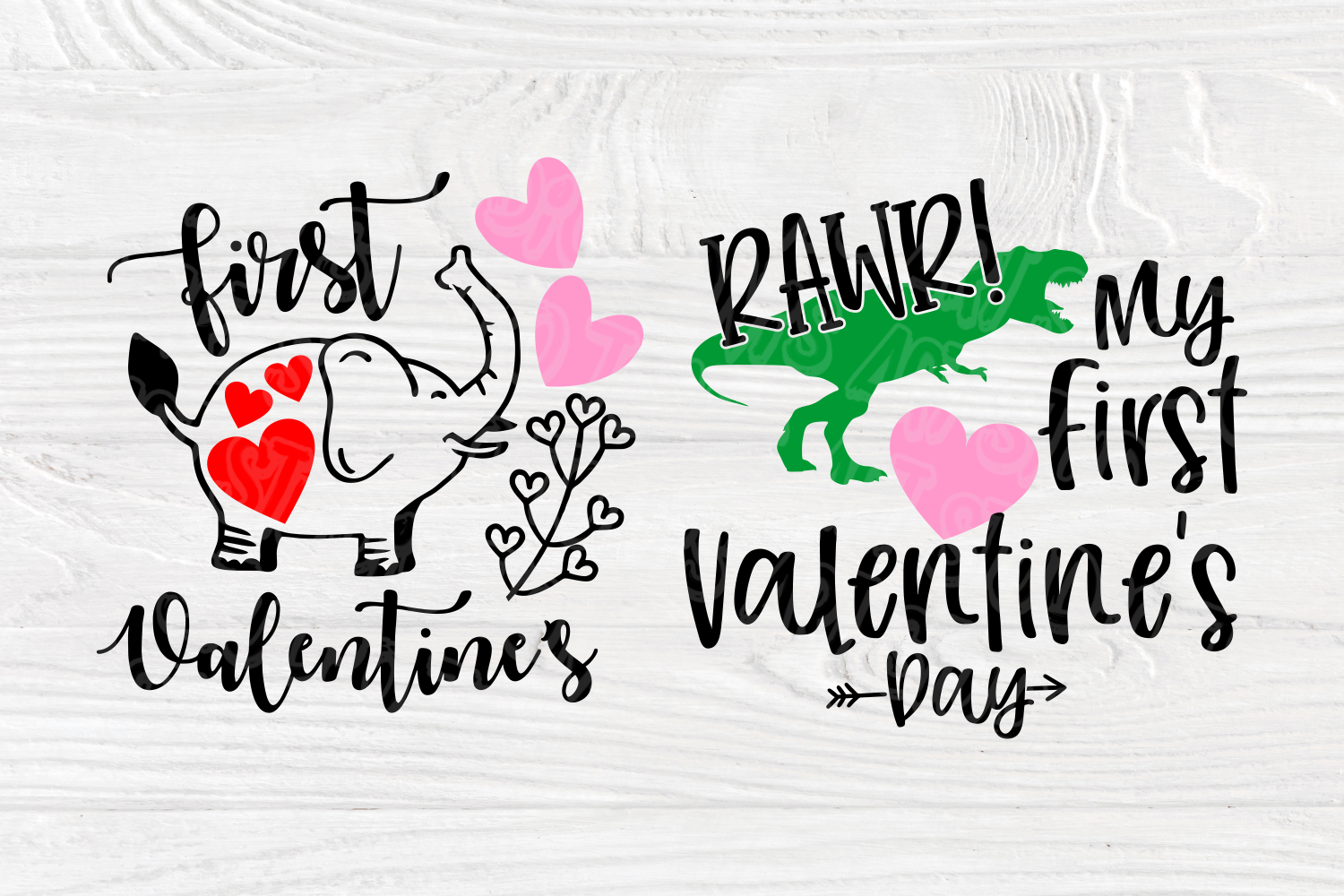 My First Valentine's Day | SVG Bundle | Valentines Quotes example image 6