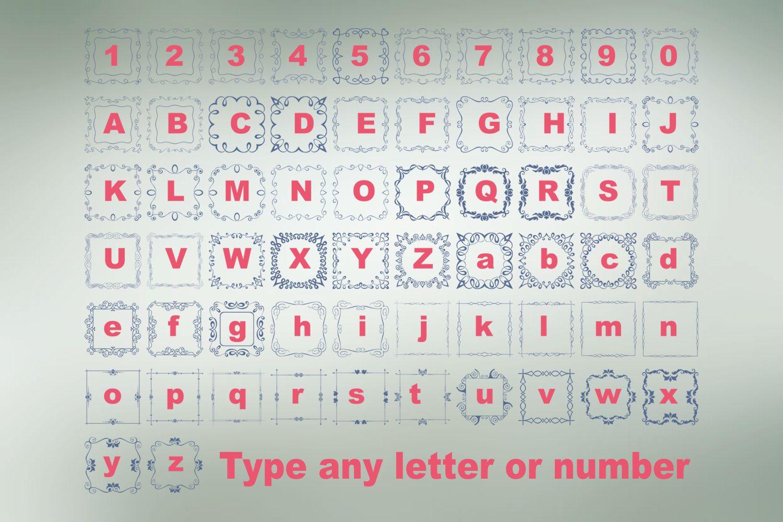 Square Frames Dingbat Font example image 3