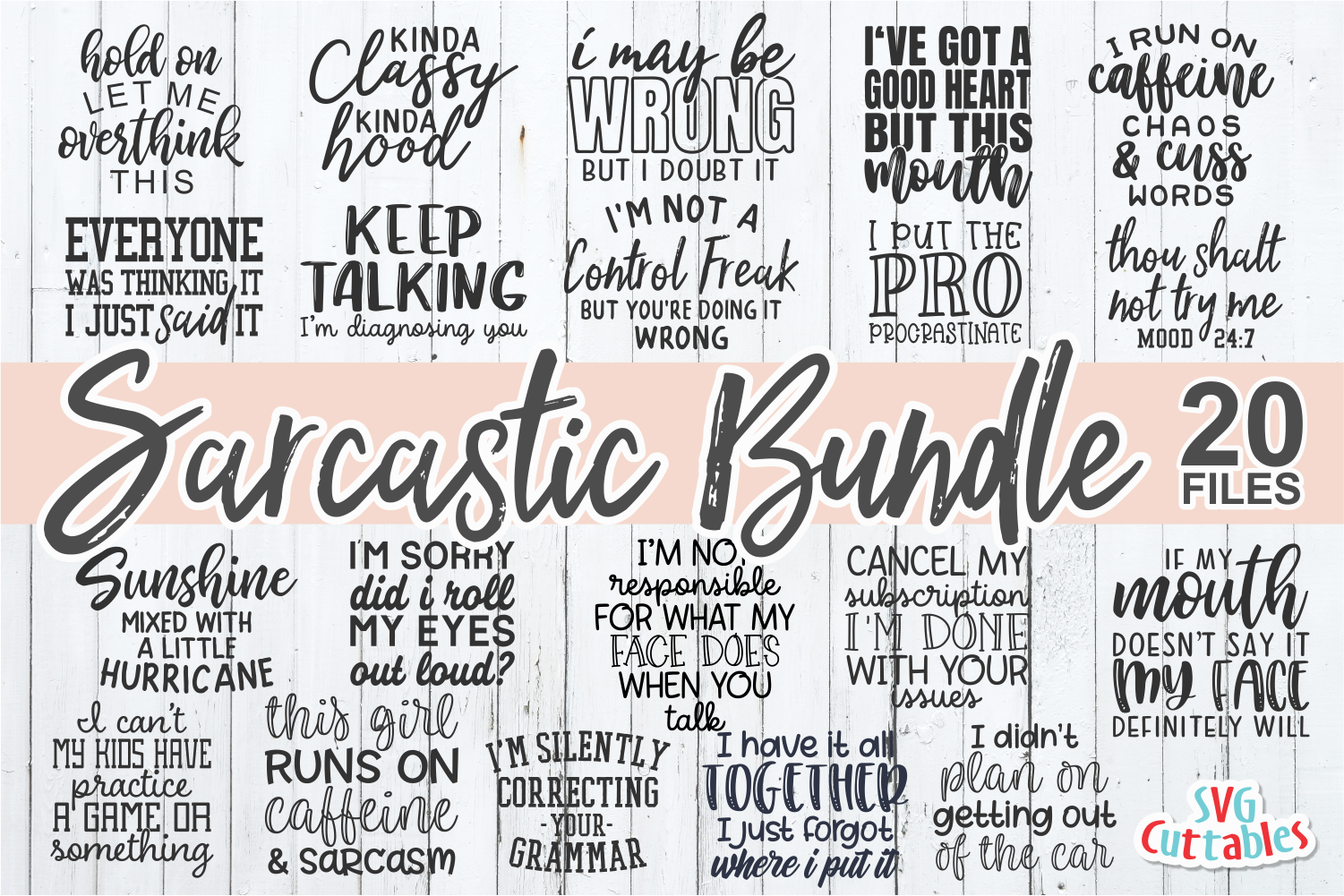 Sarcastic Bundle | Funny SVG Cut Files example image 1