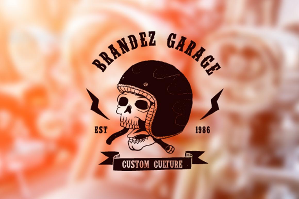 Vintage Badges Motorcycle example image 3
