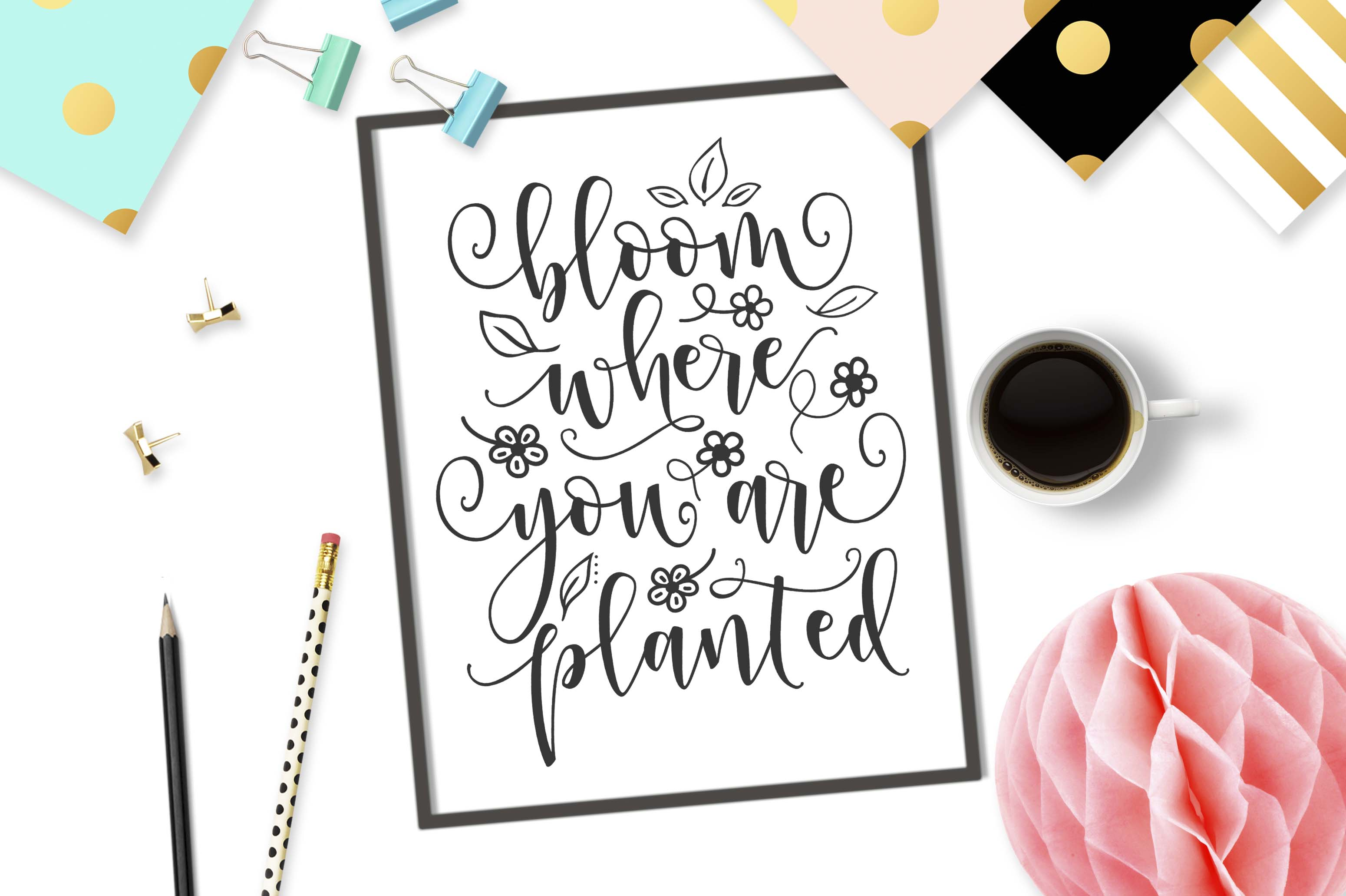 Bloom where you are planted SVG DXF PNG EPS example image 2