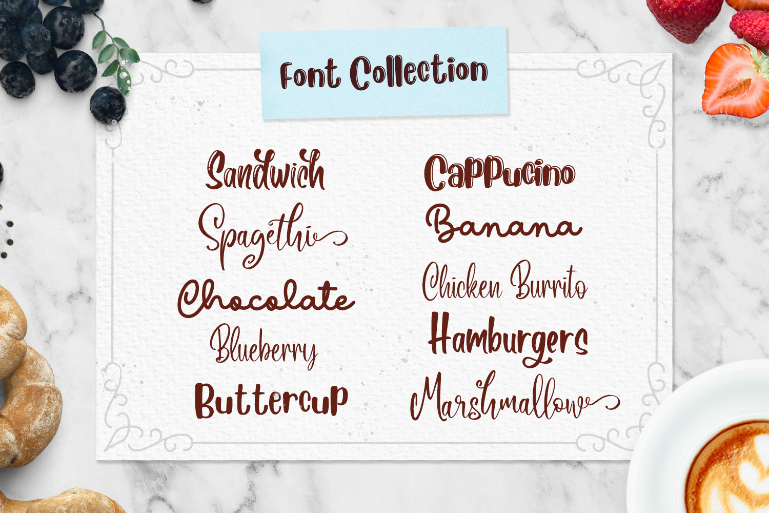 The Beaner - 5 Font & 41 Clipart example image 2