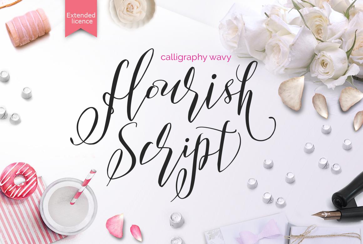 Flourish Script  example image 1