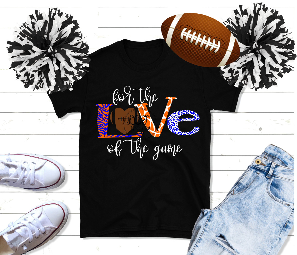 For the Love of the Game//Football//SVG//DXF//EPS example image 2