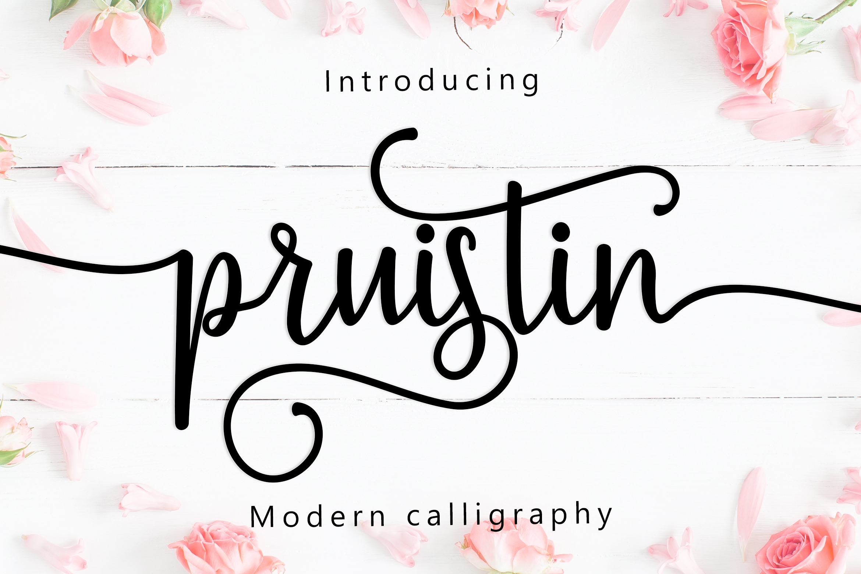 Pruistin Script example image 1