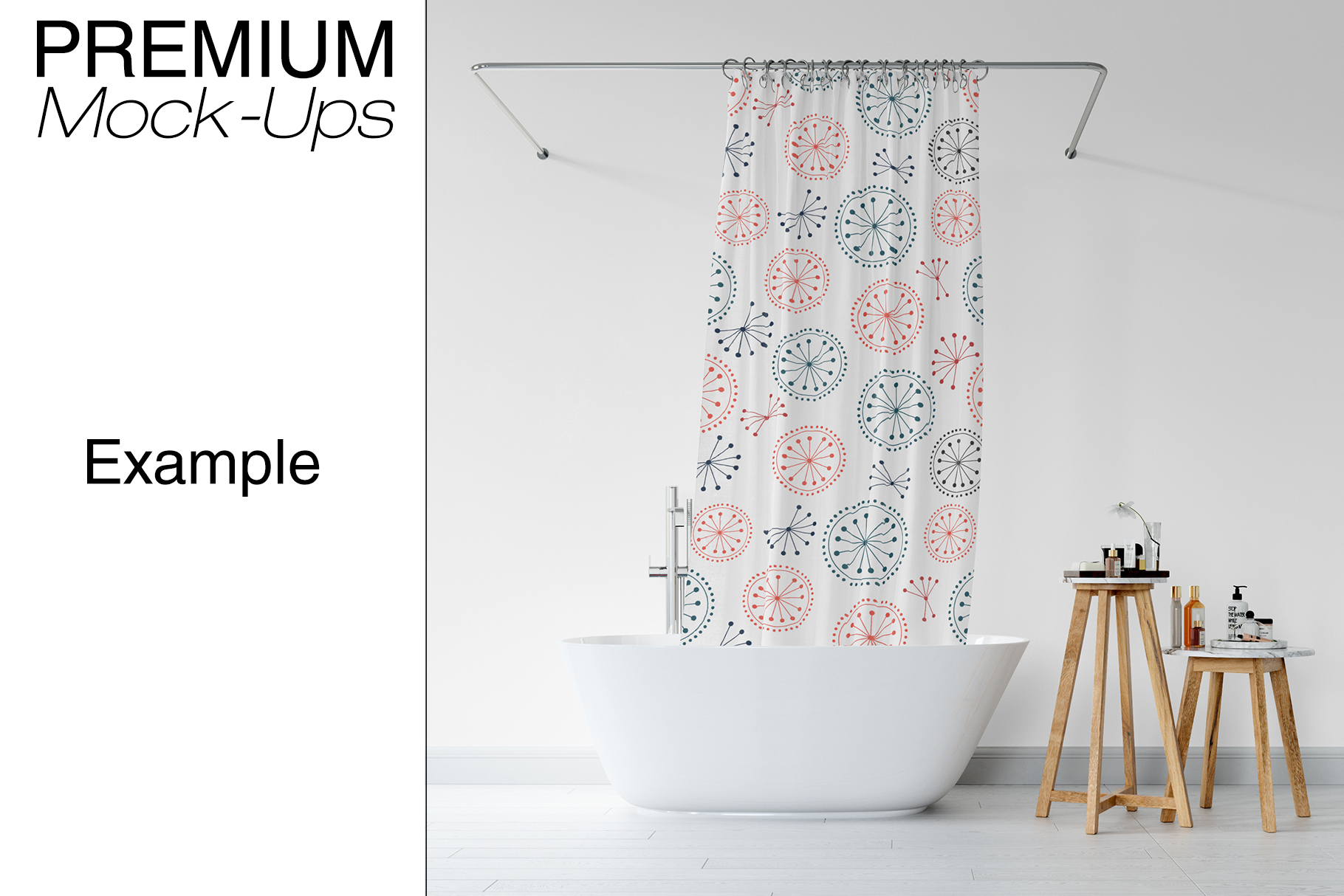 Bath Curtain Mockup Pack example image 10