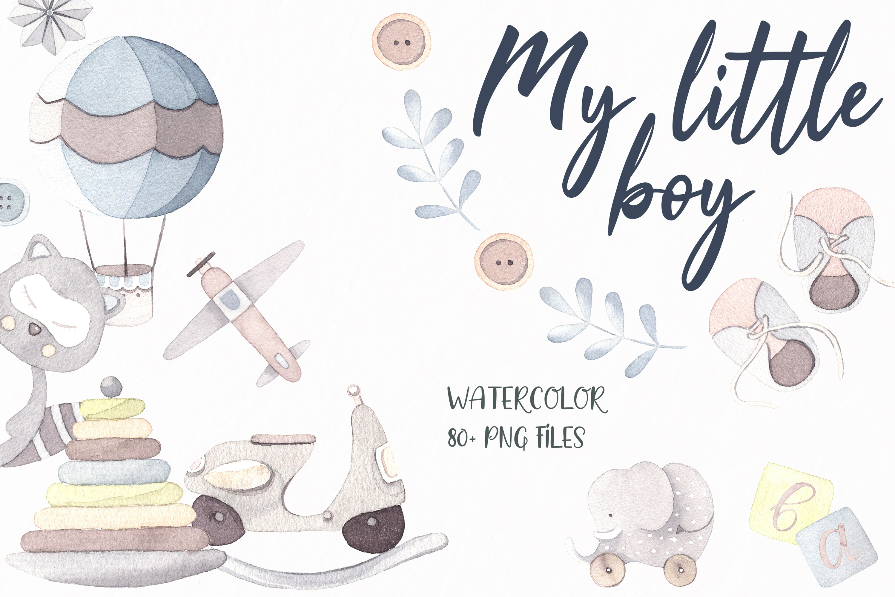My little boy watercolor set example image 1