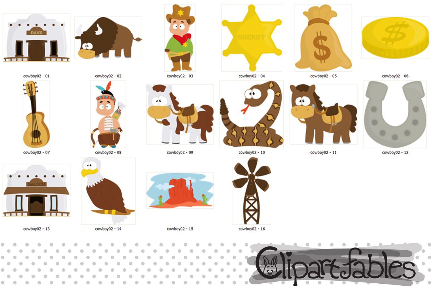 WESTERN clip art, Cowboy clipart, Sheriff clipart, example image 2