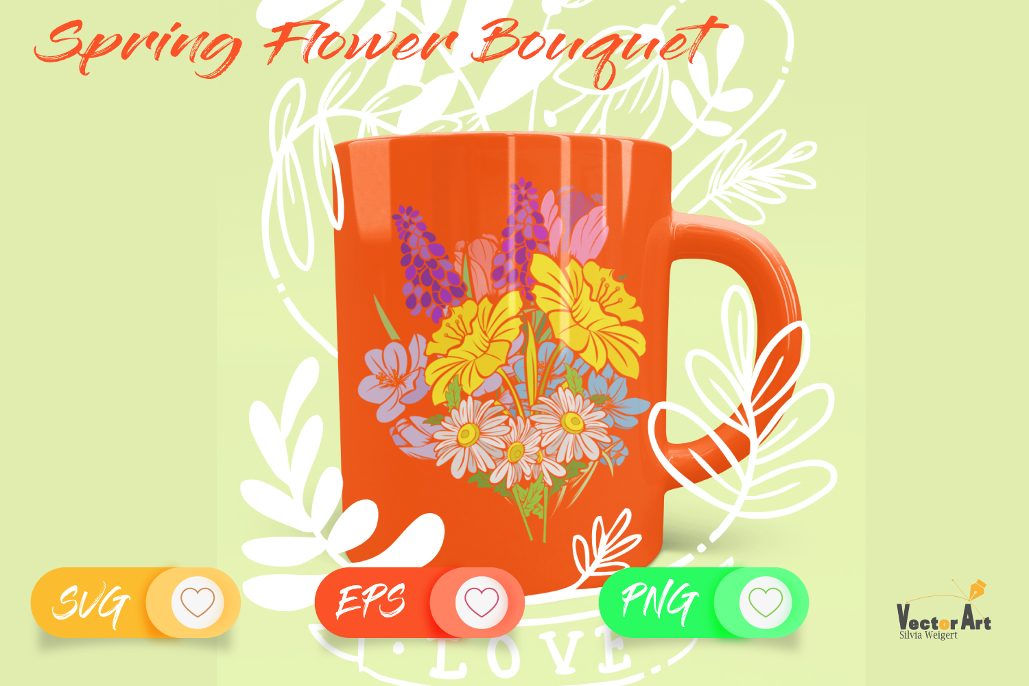 Spring Flower Bouqet - Cut File with 2 Layers example image 5