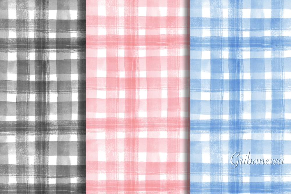 Seamless patterns. Watercolor example image 1