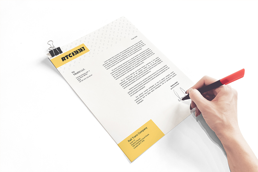 A4 Paper / Business Letter / Letterhead Mockup example image 5