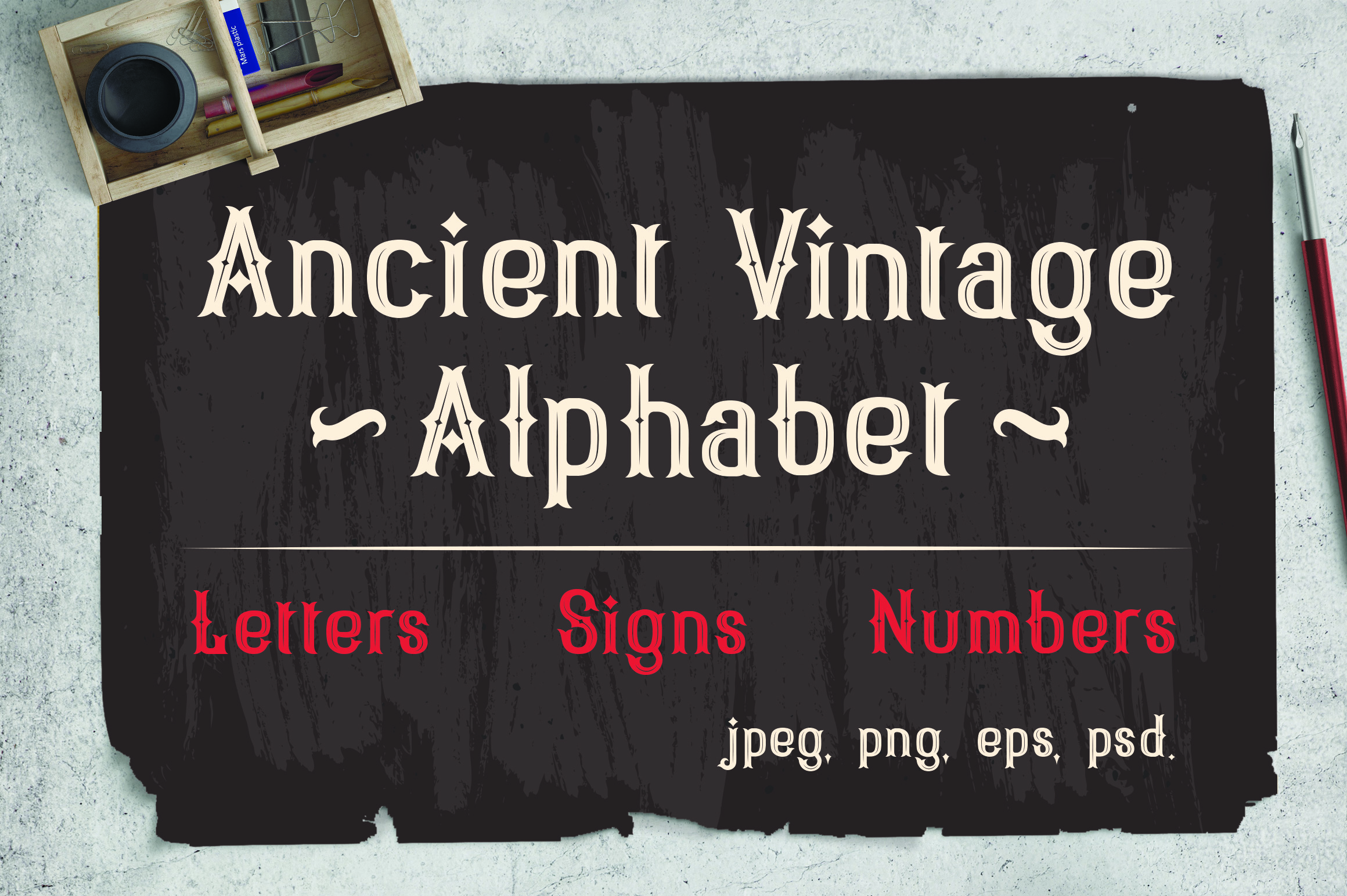 Vintage Victorian alphabet + Bonus example image 1
